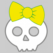 skull & yellow ribbon